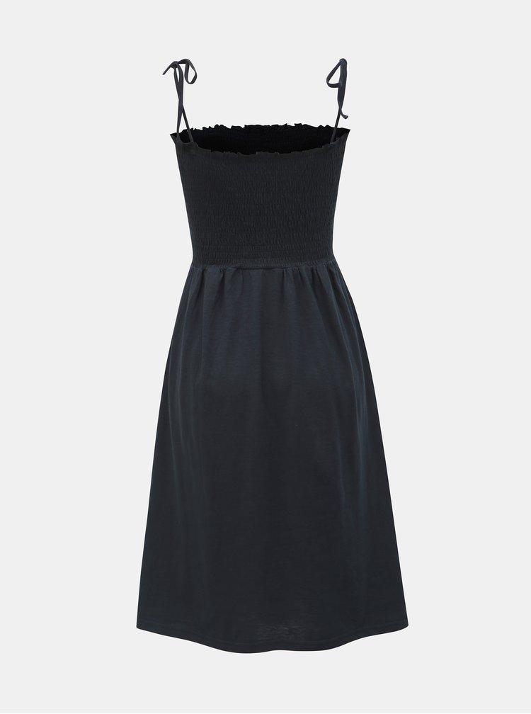 Tmavě modré šaty na ramínka VERO MODA Aria