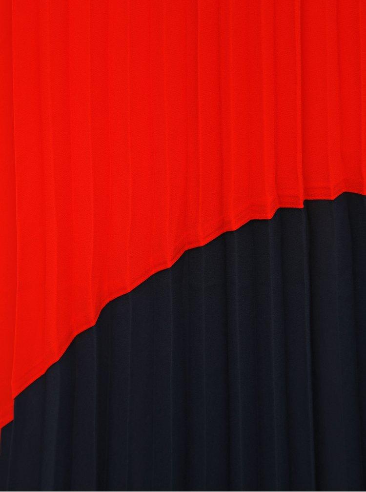 Fusta maxi albastru-rosu plisata ONLY Stina