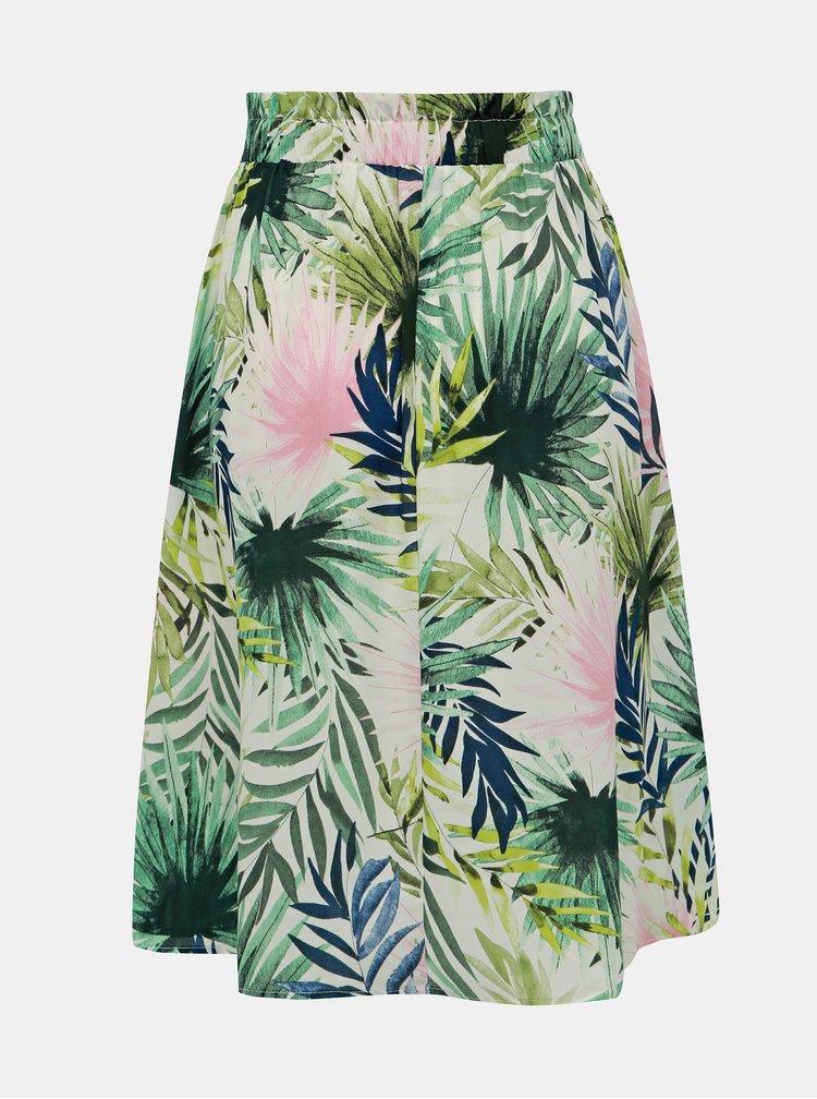 Fusta alb-verde cu model ONLY Tropical