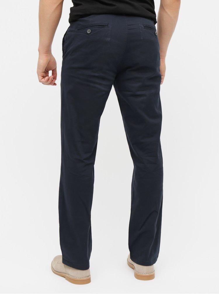 Tmavě modré straight chino kalhoty Burton Menswear London