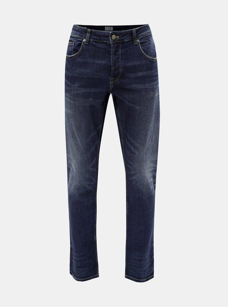 Tmavě modré regular fit džíny ONLY & SONS