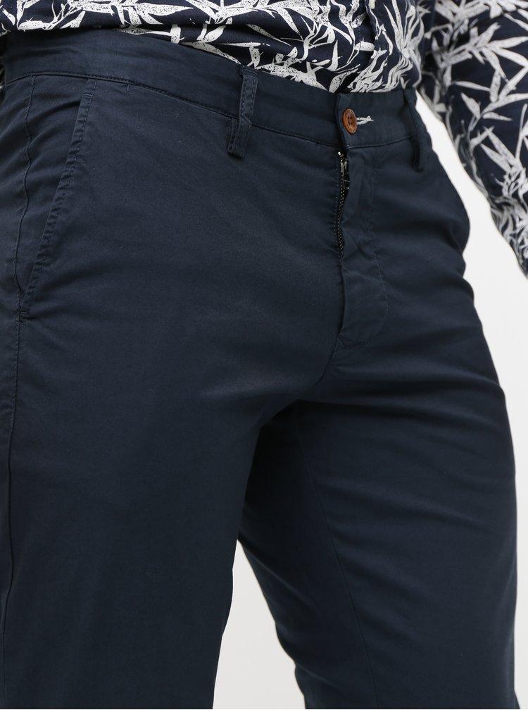 Tmavomodré pánske slim fit chino nohavice GANT