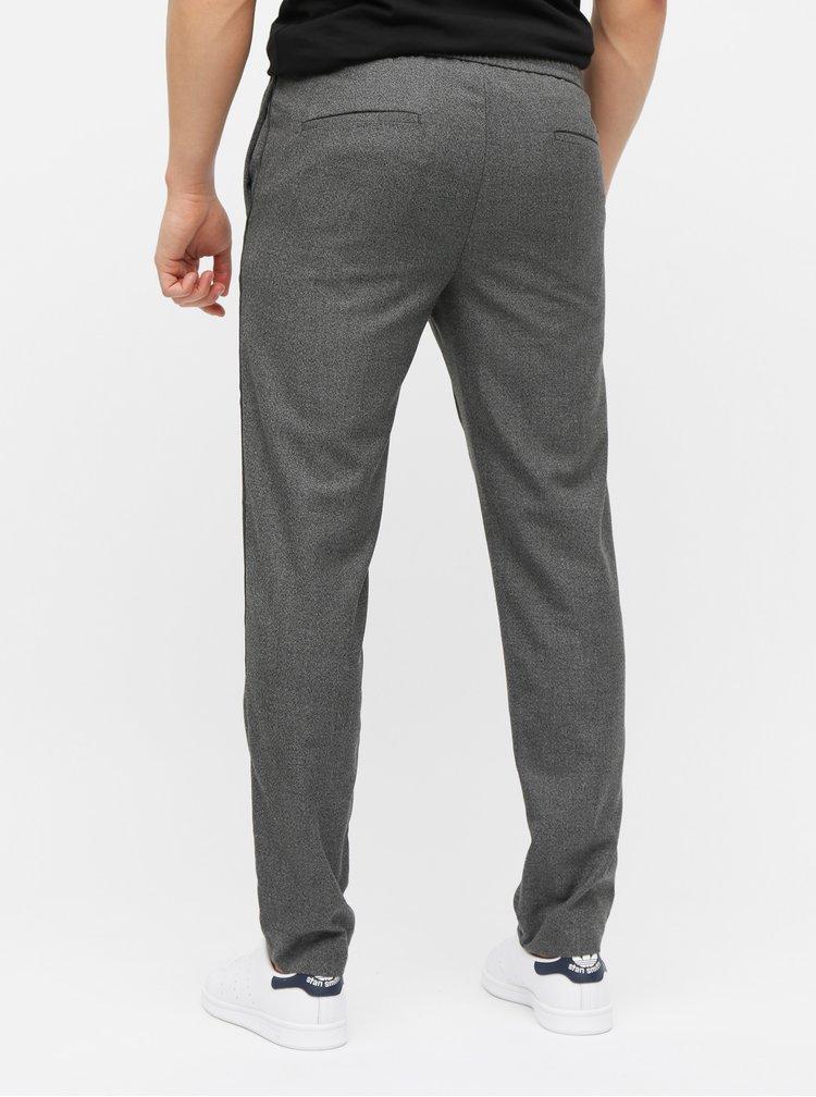 Pantaloni gri melanj slim fit Burton Menswear London