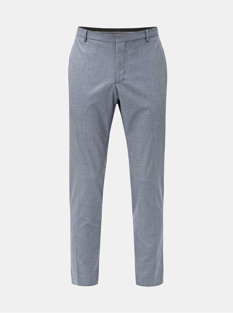 Pantaloni formali albastri slim fit Selected Homme Freesum