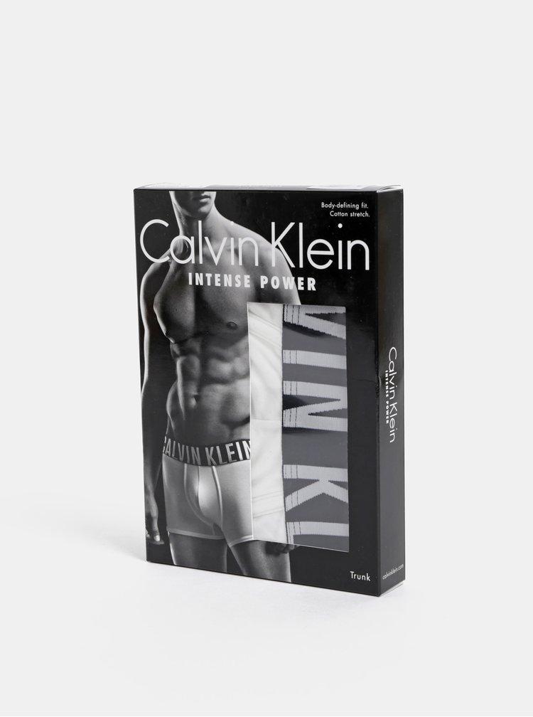 Boxeri albi cu elastic in talie si logo pentru barbati  - Calvin Klein Underwear