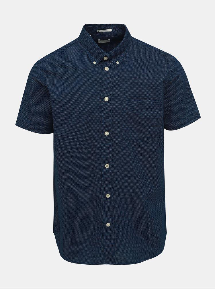 Camasa albastru inchis regular fit cu model Selected Homme Reglandon