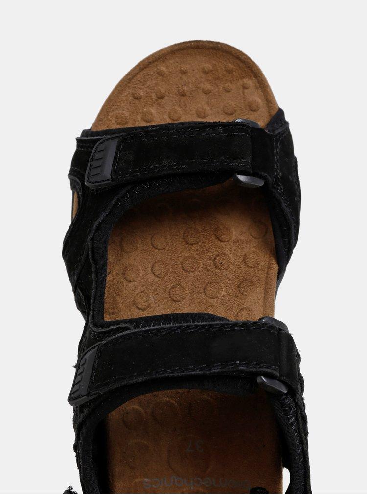 Čierne kožené sandále Scholl Spinner