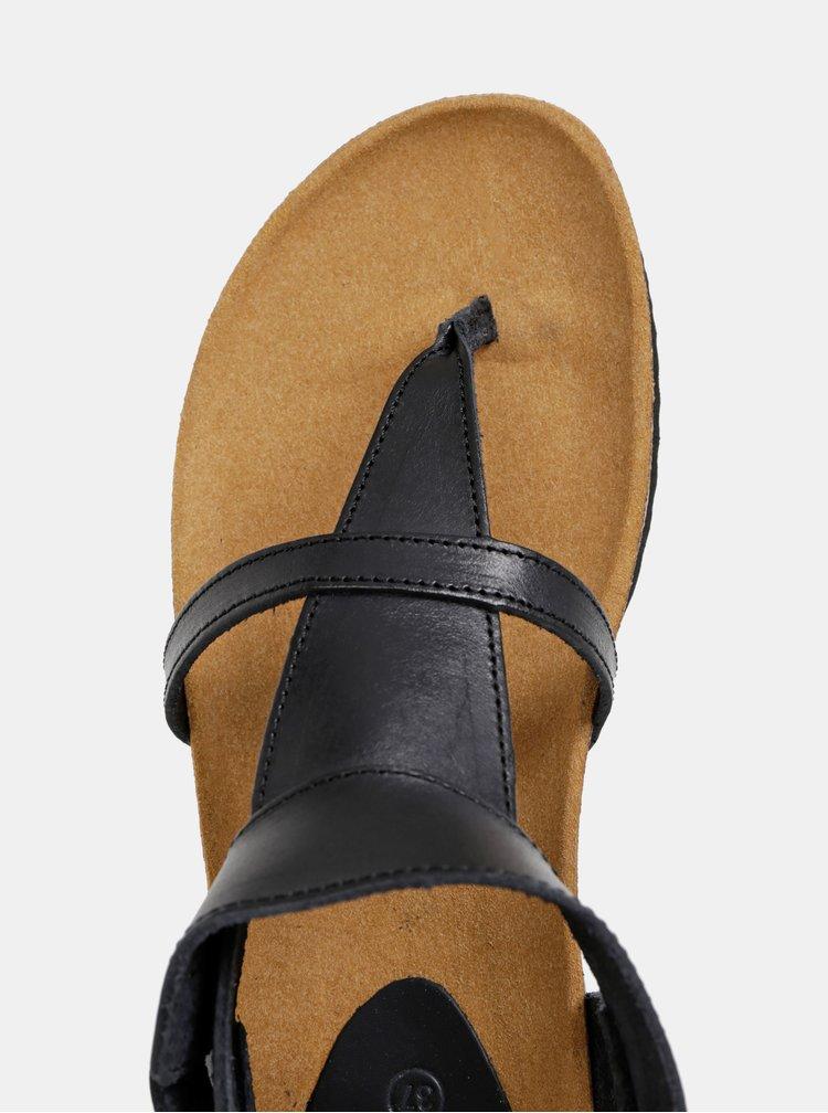 Čierne kožené sandále Scholl Berry