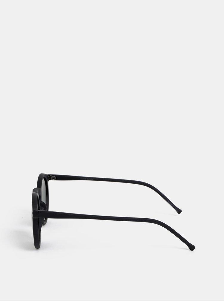 Černé kulaté sluneční brýle VERO MODA Carol