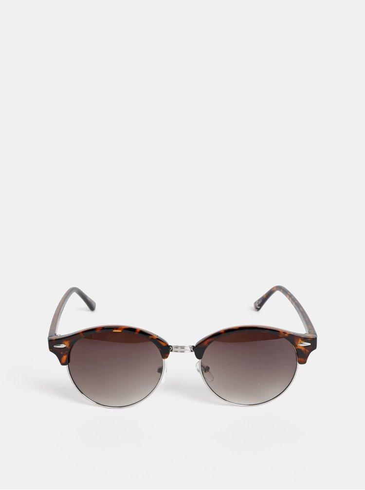 Hnědé vzorované sluneční brýle VERO MODA Carol