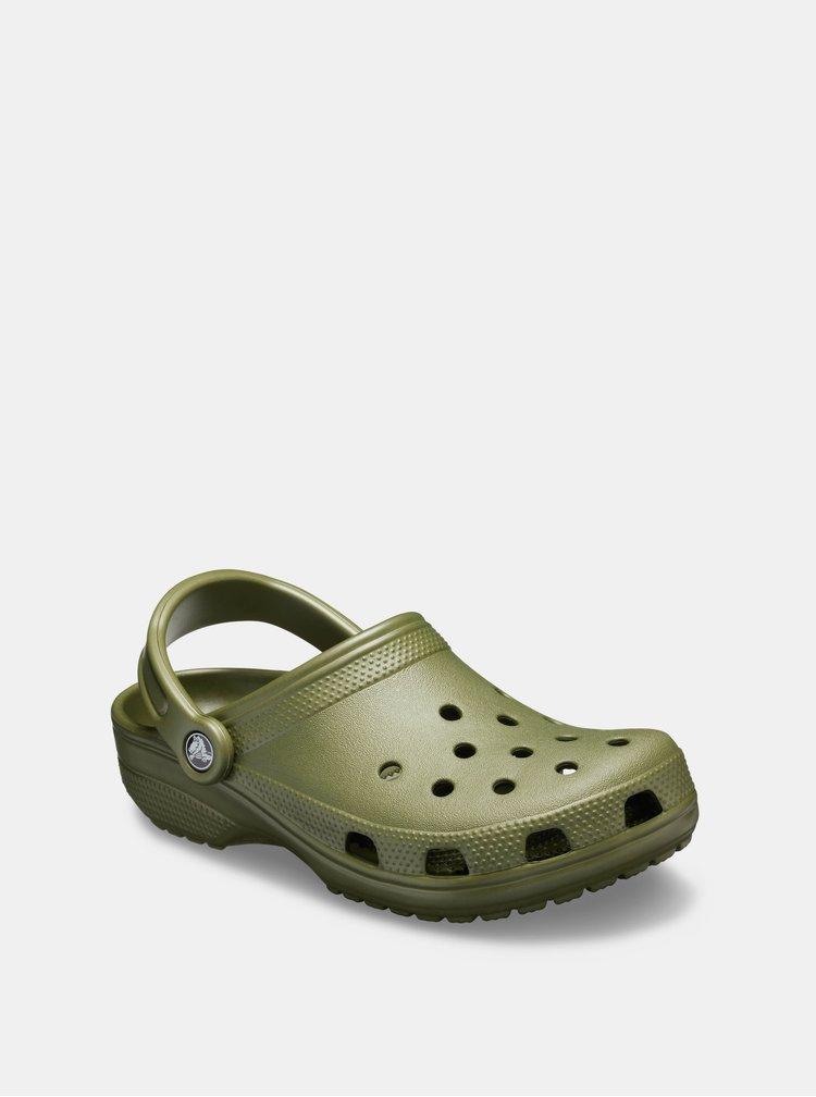 Khaki pánské pantofle Crocs Classic