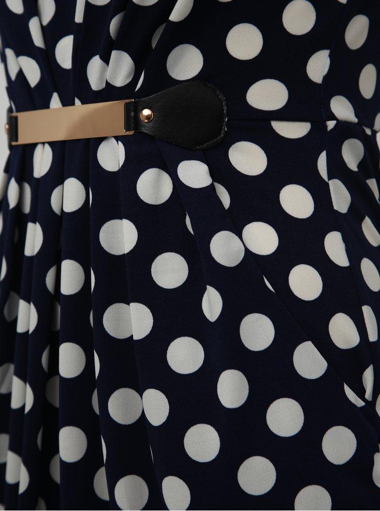 Rochie albastru inchis din dantela Mela London