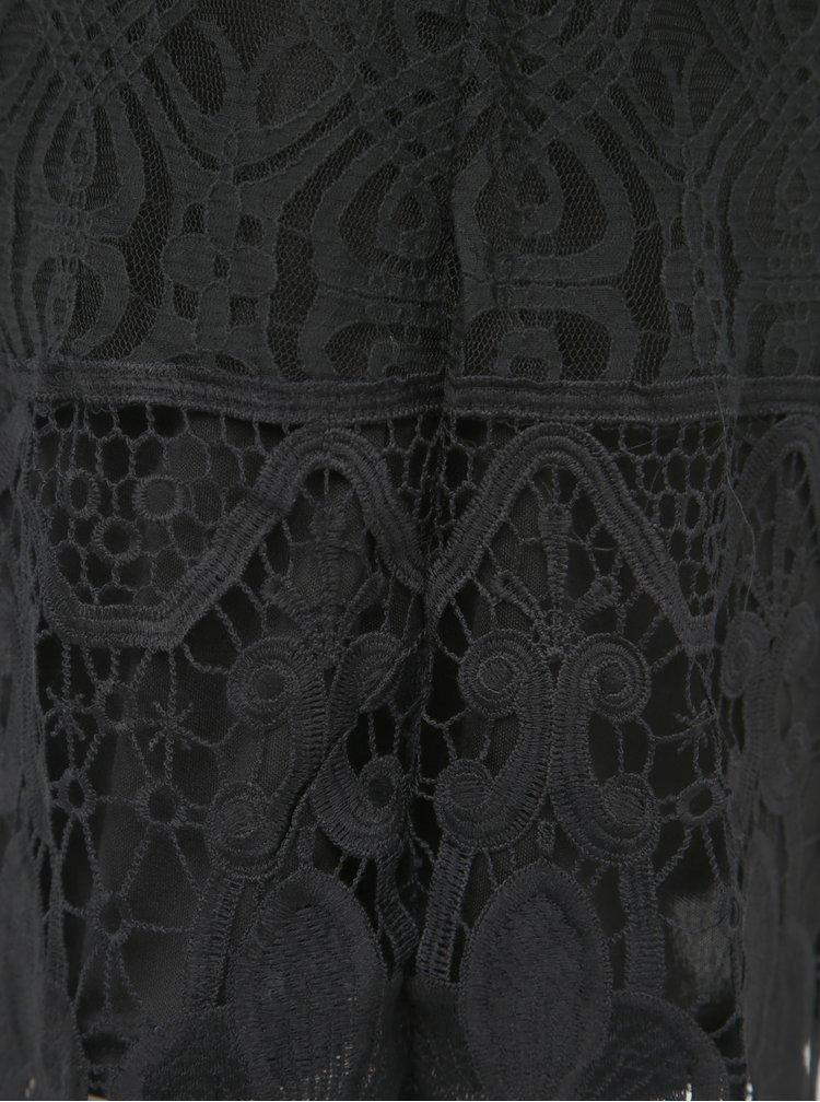 Rochie neagra din dantela Mela London