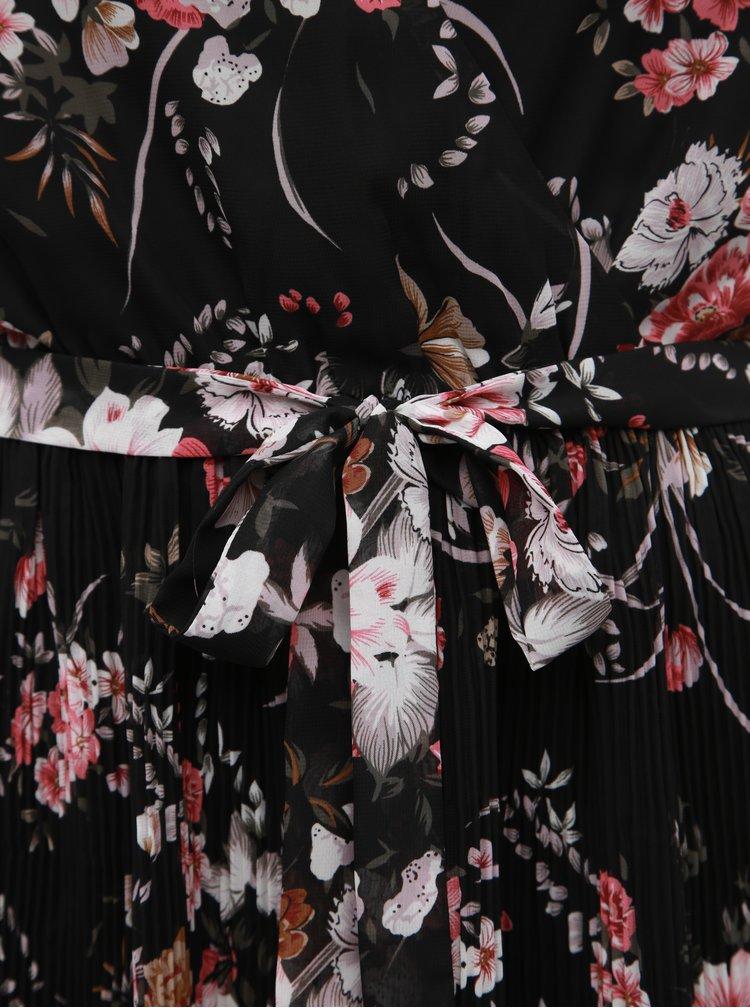 Rochie neagra plisata florala ONLY Thea