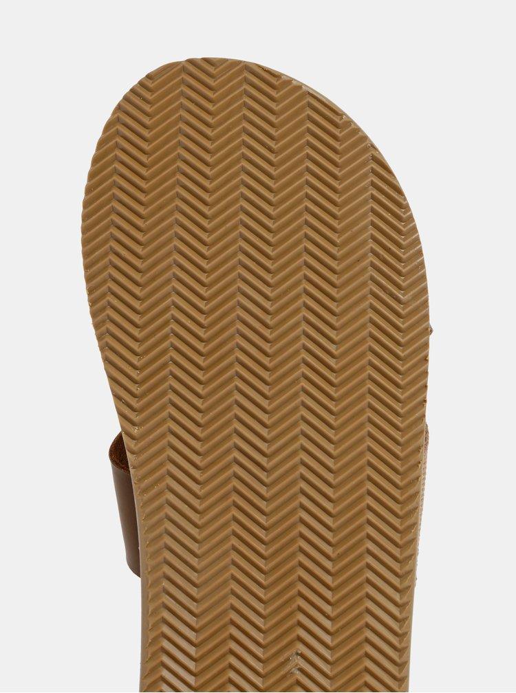 Hnedé pánske šľapky Jack & Jones Nova