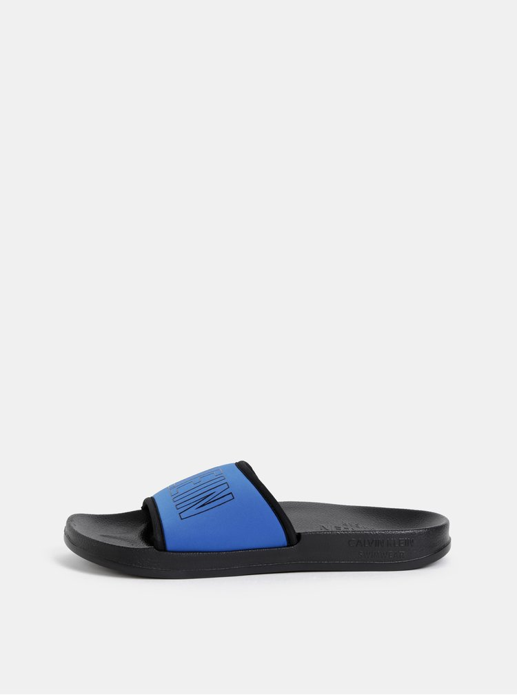 Modré dámské pantofle Calvin Klein Underwear
