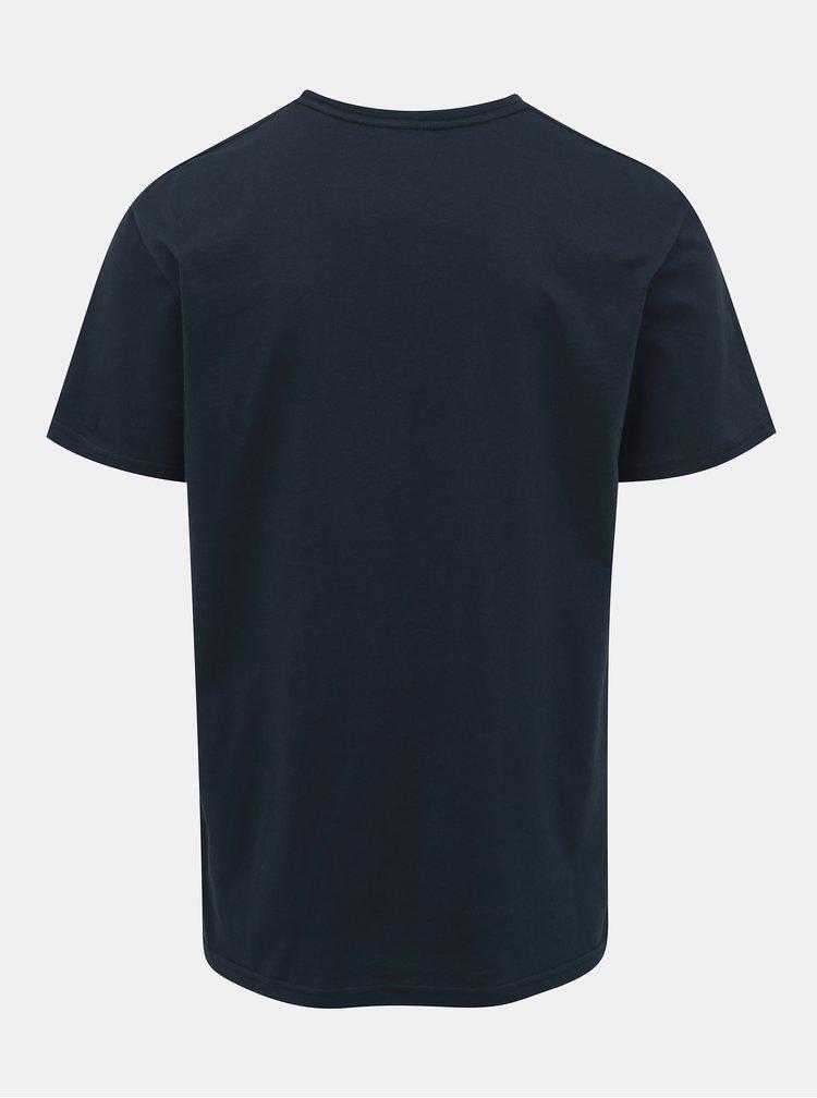 Tricou albastru inchis regular fit Quiksilver