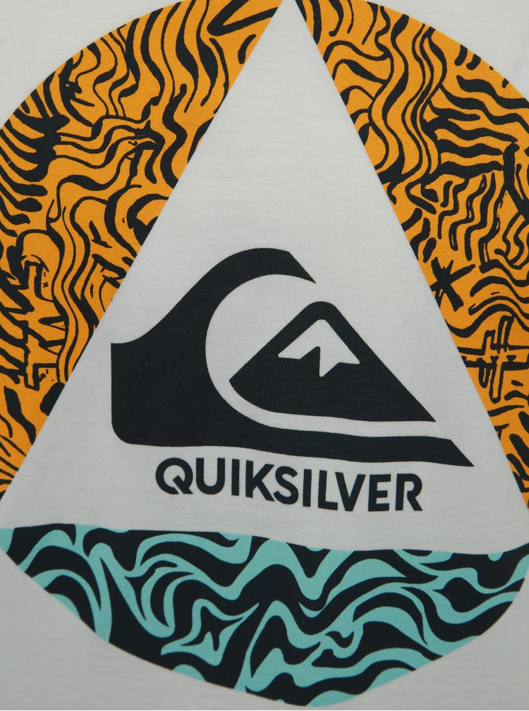 Tricou alb regular fit Quiksilver
