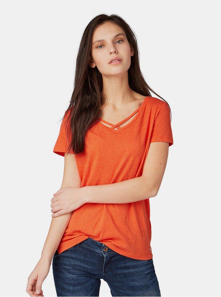 Tricou oranj de dama Tom Tailor Denim
