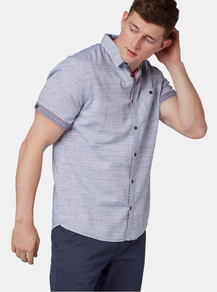 Camasa barbateasca albastra melanj regular fit Tom Tailor