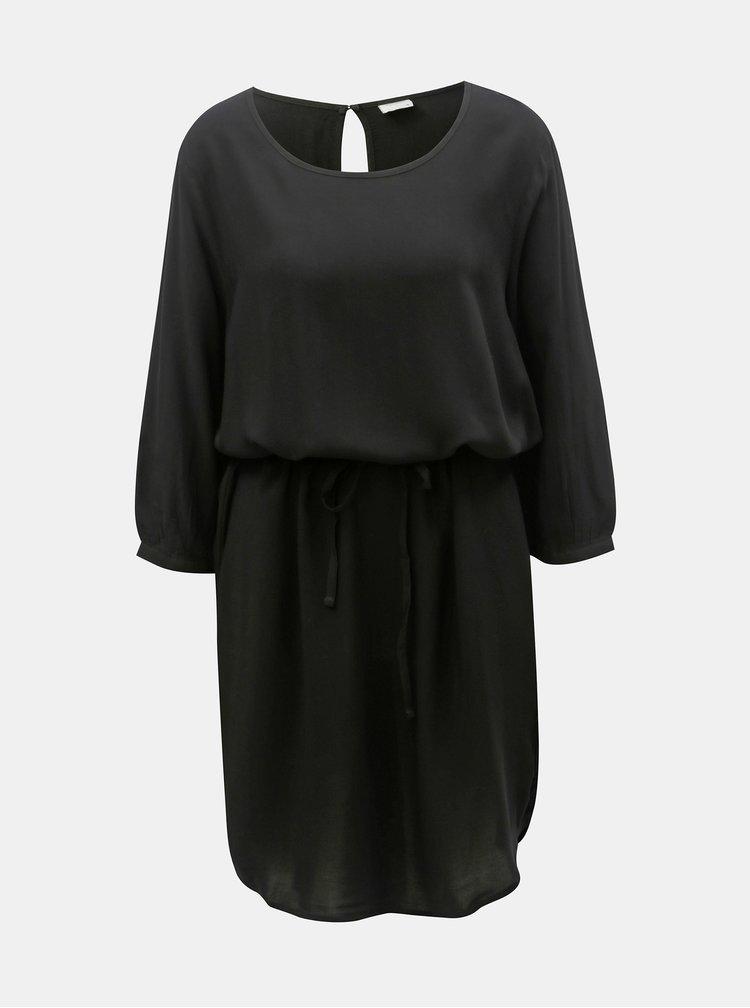 Černé šaty s páskem Jacqueline de Yong