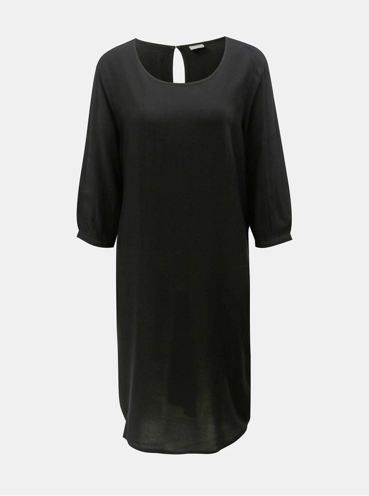 Čierne šaty s opaskom Jacqueline de Yong