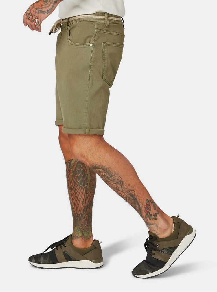 Zelené pánské regular fit kraťasy Tom Tailor Denim