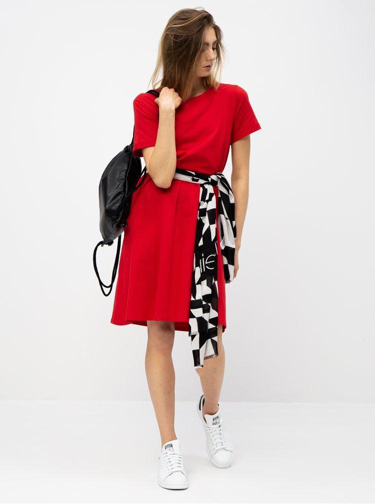 Červené basic šaty s kapsami ZOOT