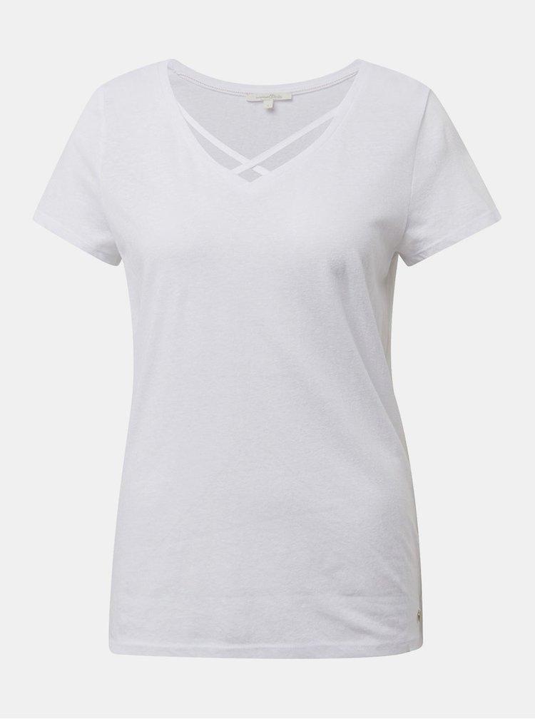 Tricou alb de dama Tom Tailor Denim