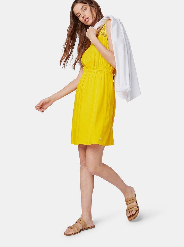 Žluté šaty Tom Tailor Denim