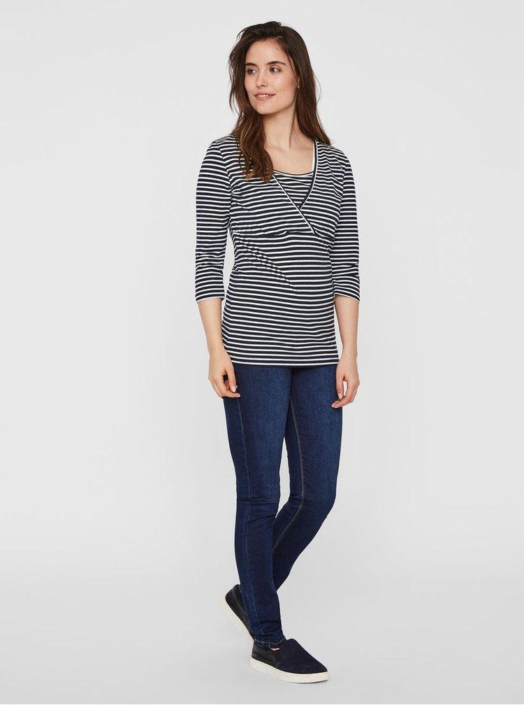 Balenie dvoch basic tričiek vhodných na dojčenie v modrej a bielej farbe Mama.licious Lea