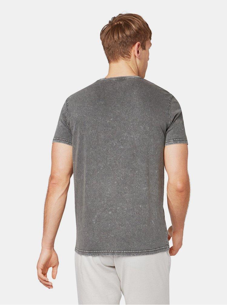 Tricou gri cu imprimeu Tom Tailor