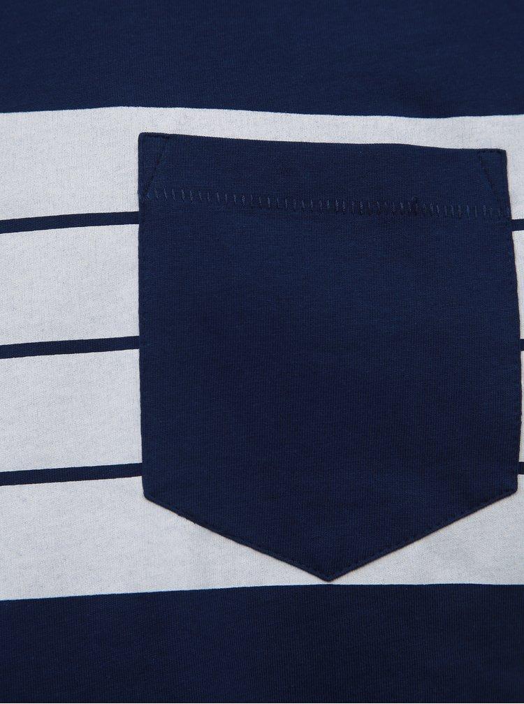 Tricou barbatesc albastru inchis cu buzunar Tom Tailor Denim