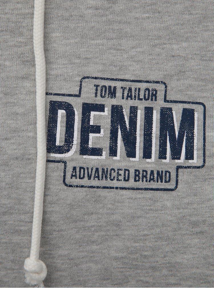 Hanorac barbatesc gri deschis melanj Tom Tailor Denim