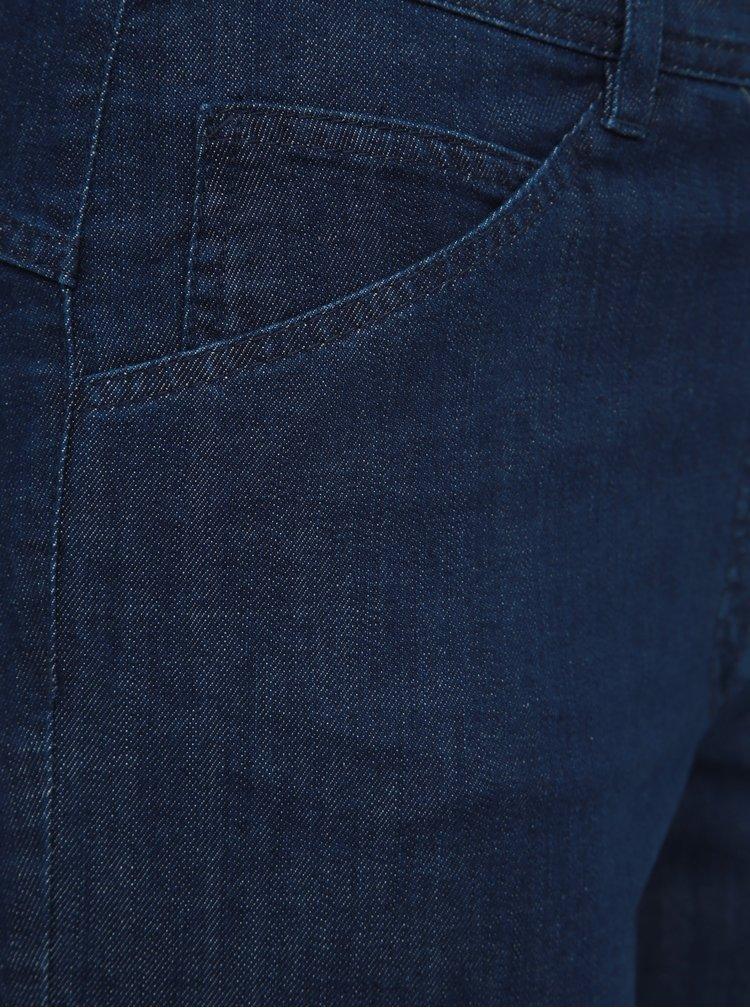 Pantaloni scurti albastru inchis din denim Ulla Popken