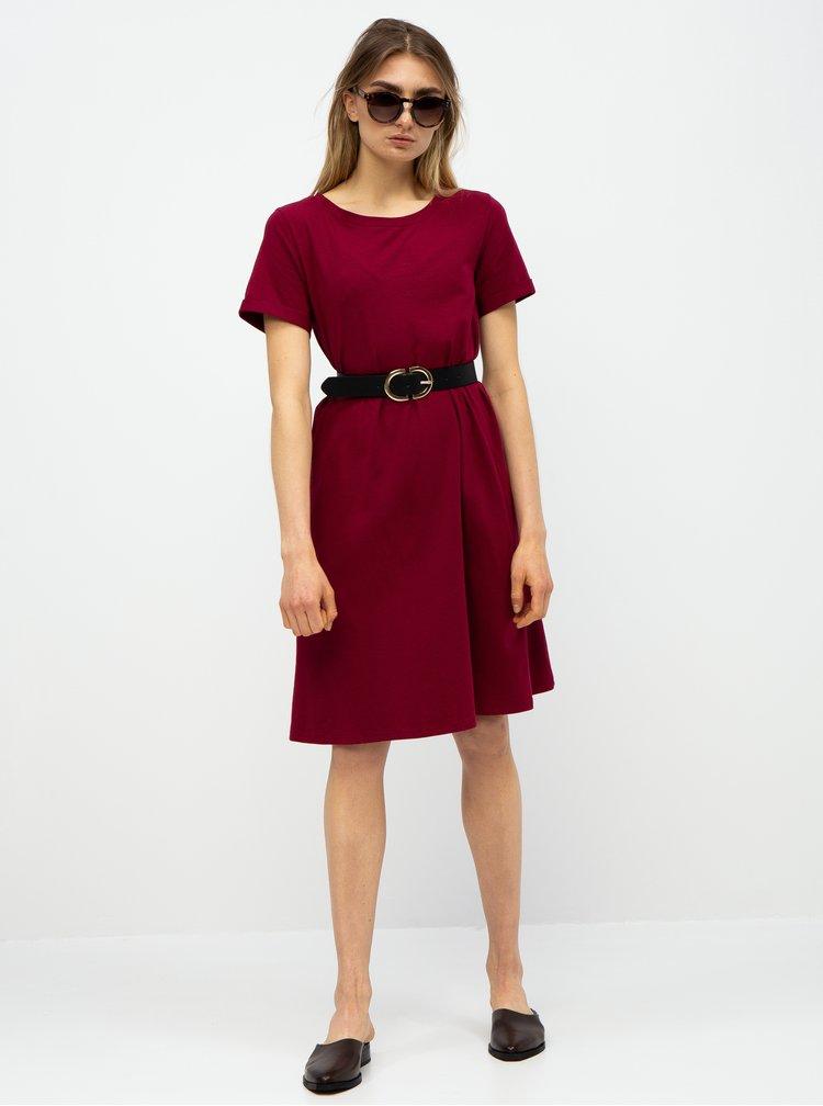 Vínové basic šaty s kapsami ZOOT