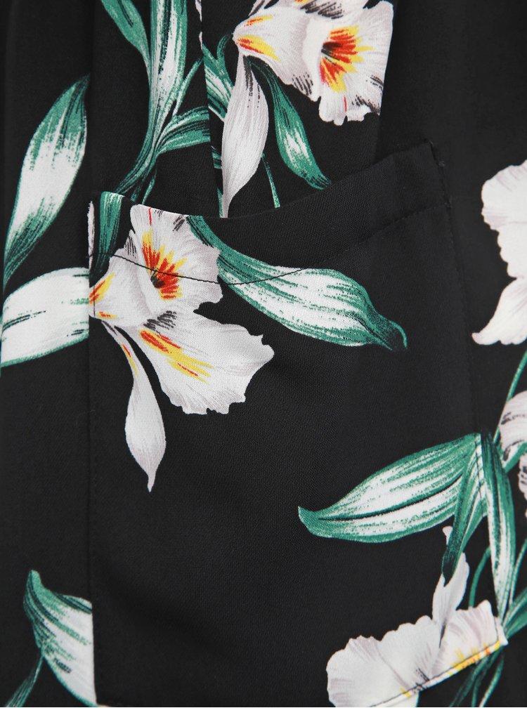 Rochie tip camasa neagra florala Dorothy Perkins Curve