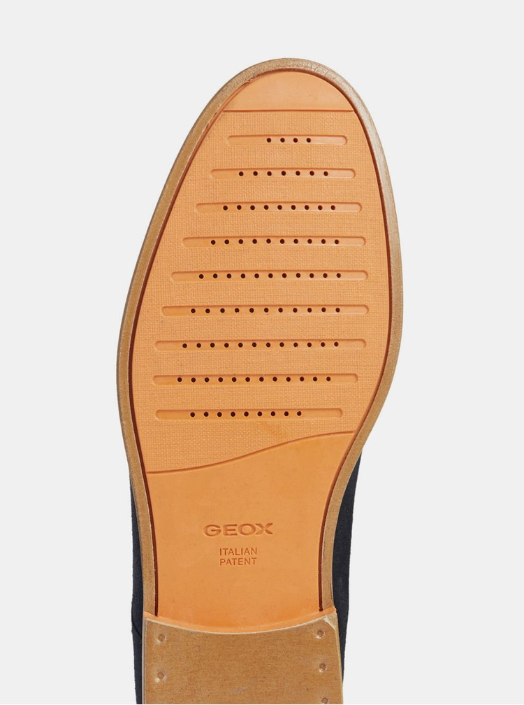 Pantofi barbatesti albastru inchis din piele intoarsa Geox Bayle