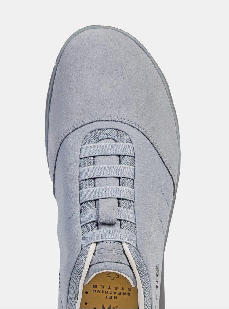 Pantofi sport barbatesti gri cu detalii din piele intoarsa Geox Nebula