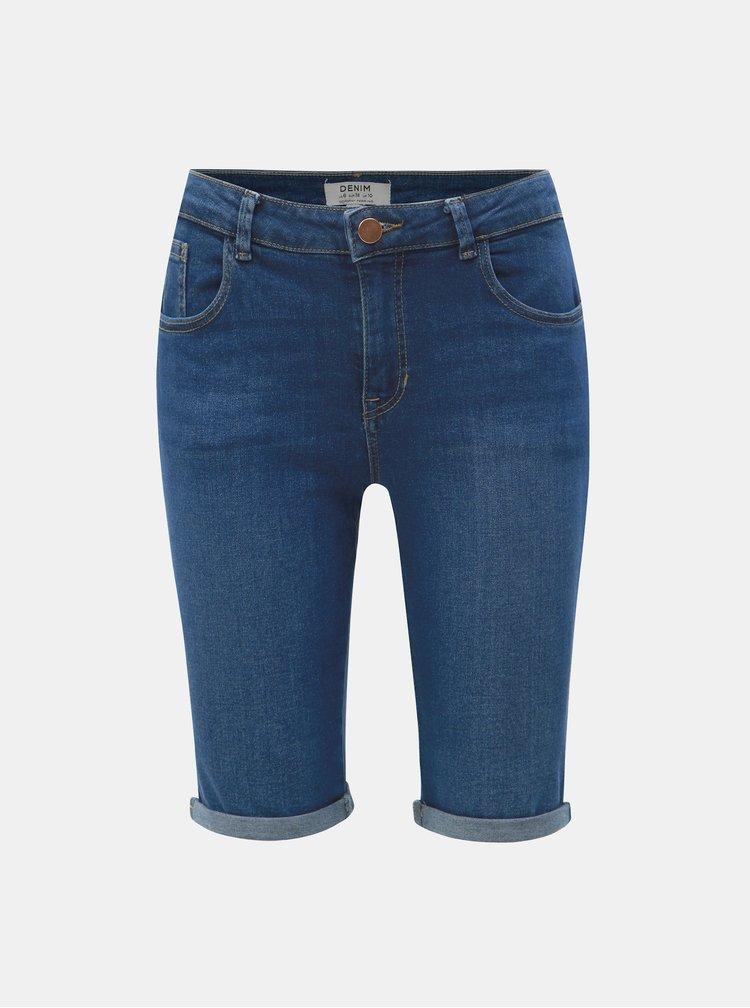 Tmavě modré džínové regular fit kraťasy Dorothy Perkins
