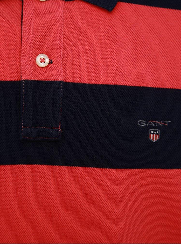 Modro-červené pánské pruhované polo tričko GANT