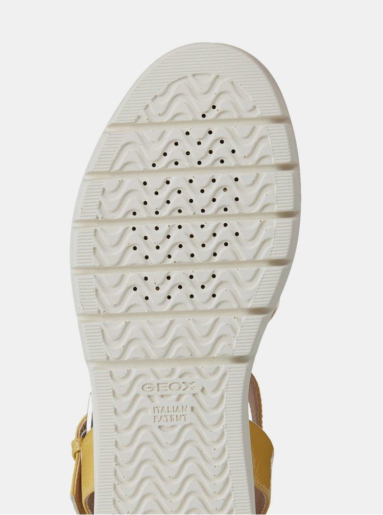 Žluté dámské sandály na platformě Geox Wimbley
