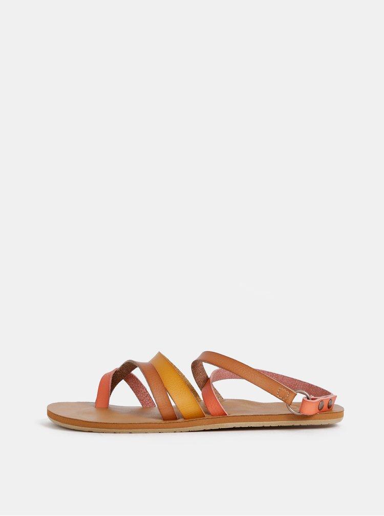 Oranžovo–hnedé sandále Roxy Rachelle