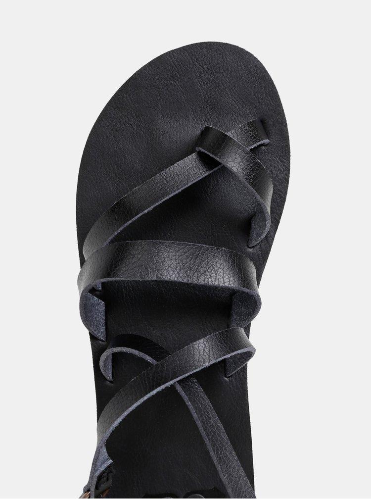 Čierne sandále Roxy Rachelle