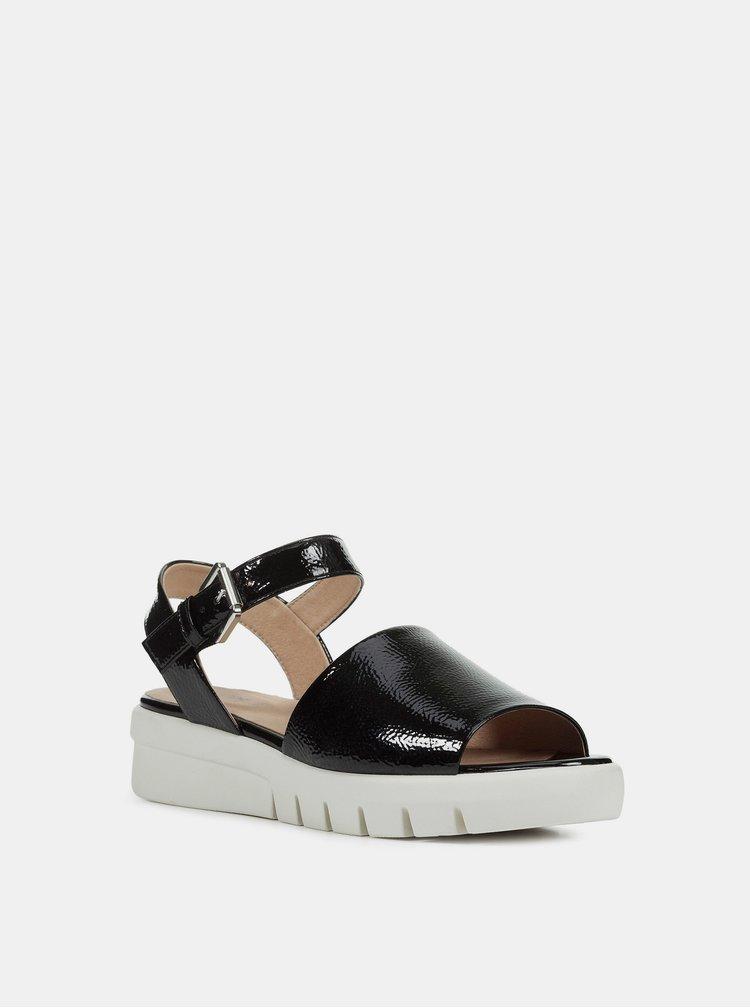 Sandale negre de dama cu platforma Geox Wimbley