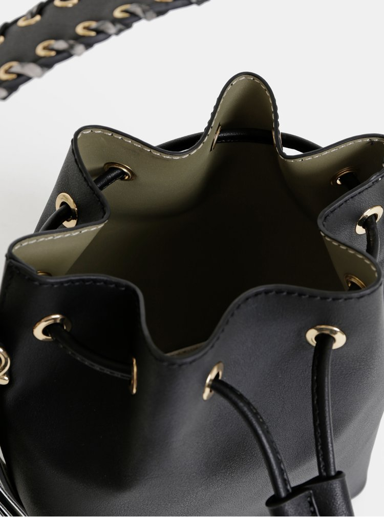 Geanta bucket neagra peste umar ALDO