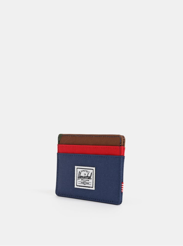 Modré pouzdro na karty Herschel Supply Charlie