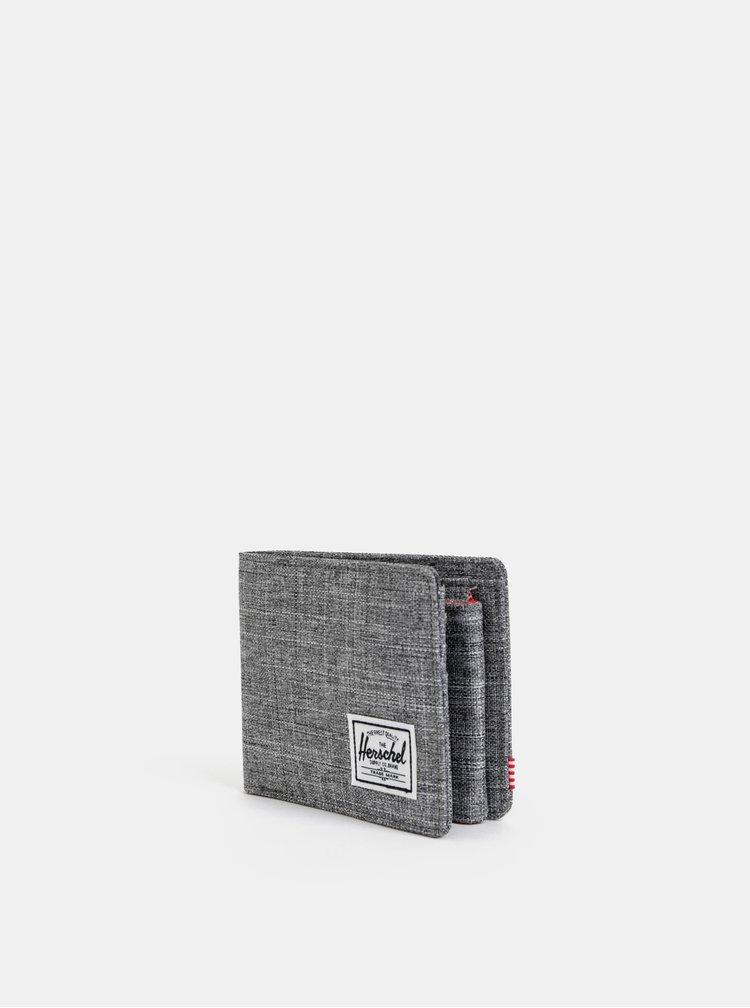 Šedá pánská žíhaná peněženka Herschel Supply Roy
