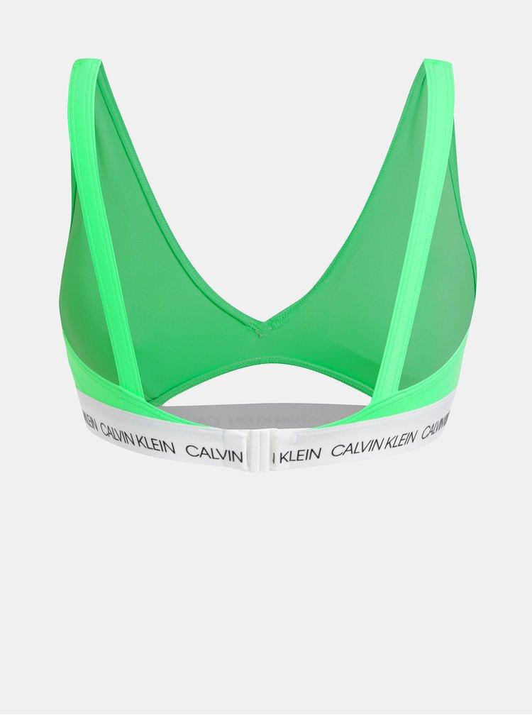 Zelený horní díl plavek Calvin Klein Underwear