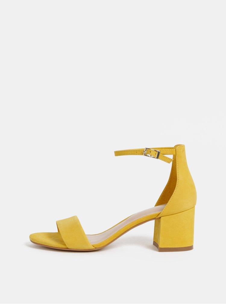 Sandale galbene din piele intoarsa ALDO